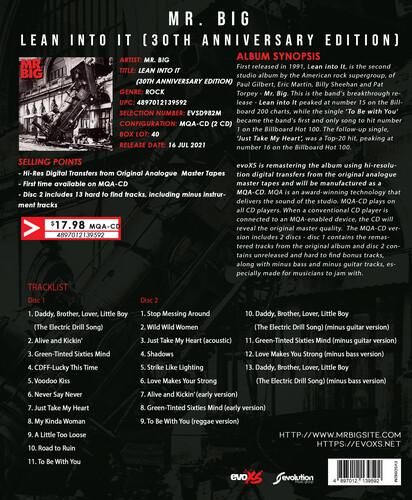Lean Into It (30th Anniversary Edition) (MQA-CD)