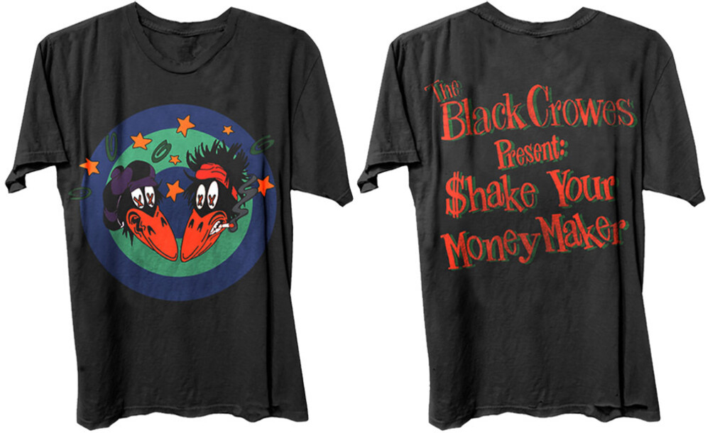 Black Crowes $Hake Your Moneymaker Ss Tee Large - The Black Crowes Present $hake Your Moneymaker Front & Back Artwork Black Unisex Short Sleeve T-shirt Large