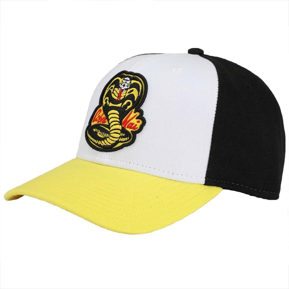 - Cobra Kai No Mercy Embroidered Pre-Curved Snapback Baseball Cap