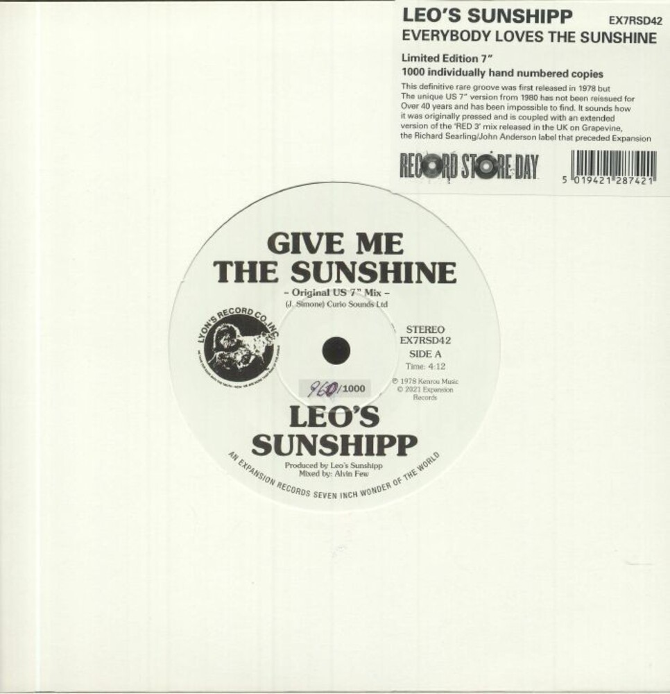 Leo's Sunshipp - Everybody Loves The Sunshine