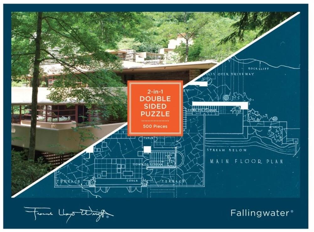 - Frank Lloyd Wright Fallingwater 2-sided 500 Piece Puzzle