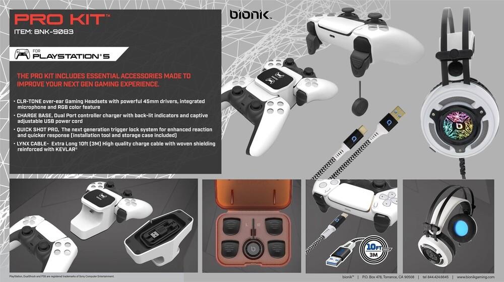 Bionik Pro Kit for Ps5 White - Bionik Pro Kit for PS5 - White