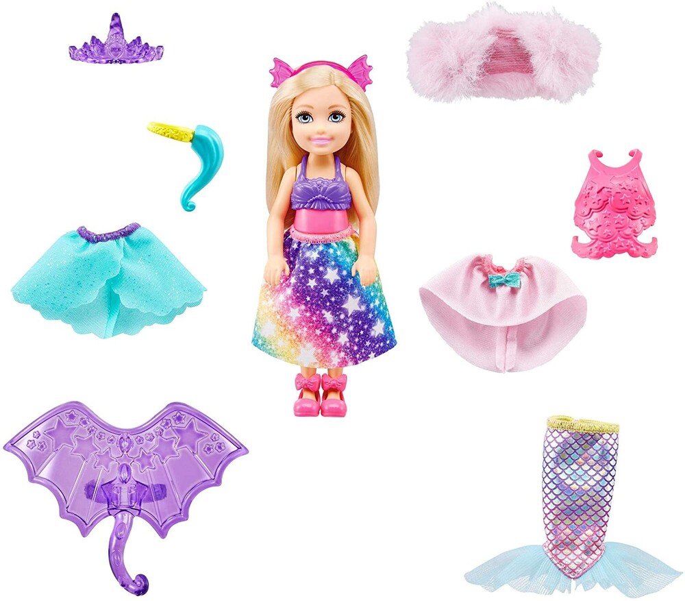 - Mattel - Barbie Dreamtopia Chelsea Dress Up Doll