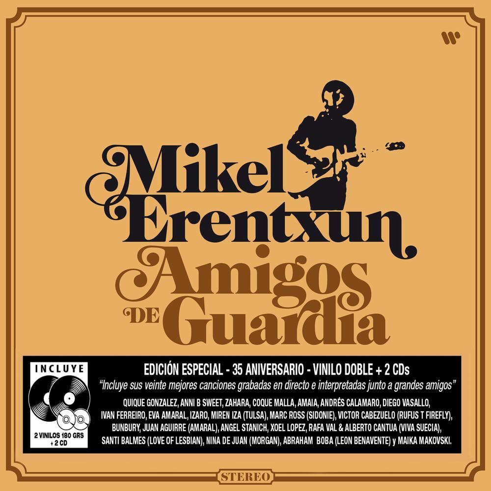 Mikel Erentxun - Amigos De Guardia (W/Cd) (Gtrp) (Pcrd) (Auto)