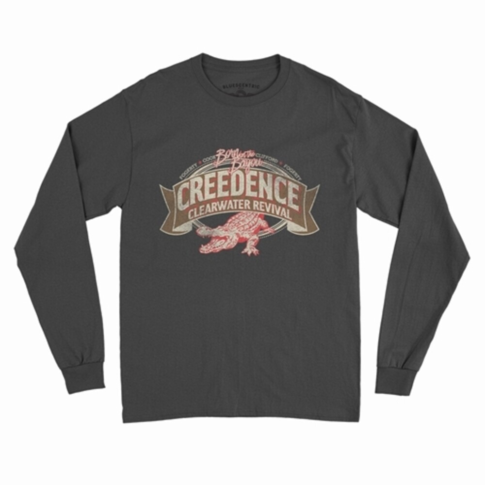 Creedence Clearwater Revival - Creedence Clearwater Revival Born On The Bayou Alligator - Fogerty Cook Clifford Fogerty Black Long Sleeve T-Shirt (Medium)