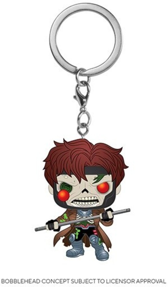 - FUNKO POP! KEYCHAIN: Marvel Zombies - Gambit