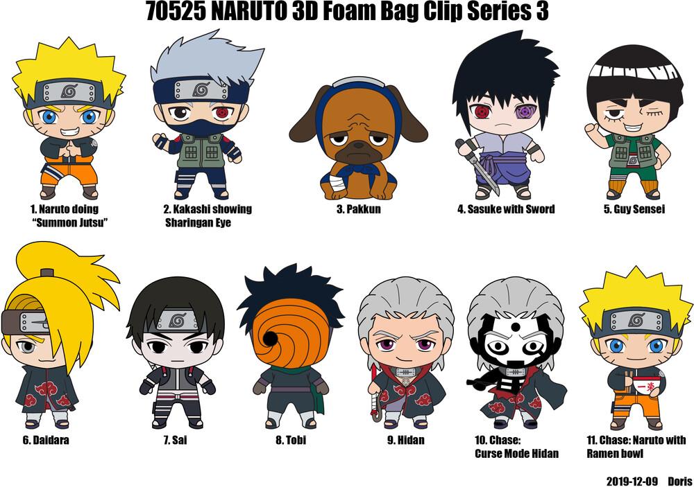 Naruto Shippuden Series 3 - 3D Figural Bagclip - Naruto Shippuden Series 3 - 3D Figural Bagclip in Blind Bag