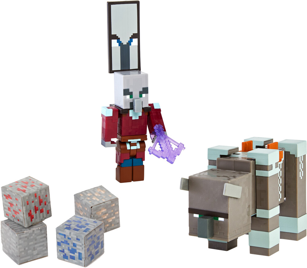- Mattel Collectible - Minecraft Ravager And Raid Captain