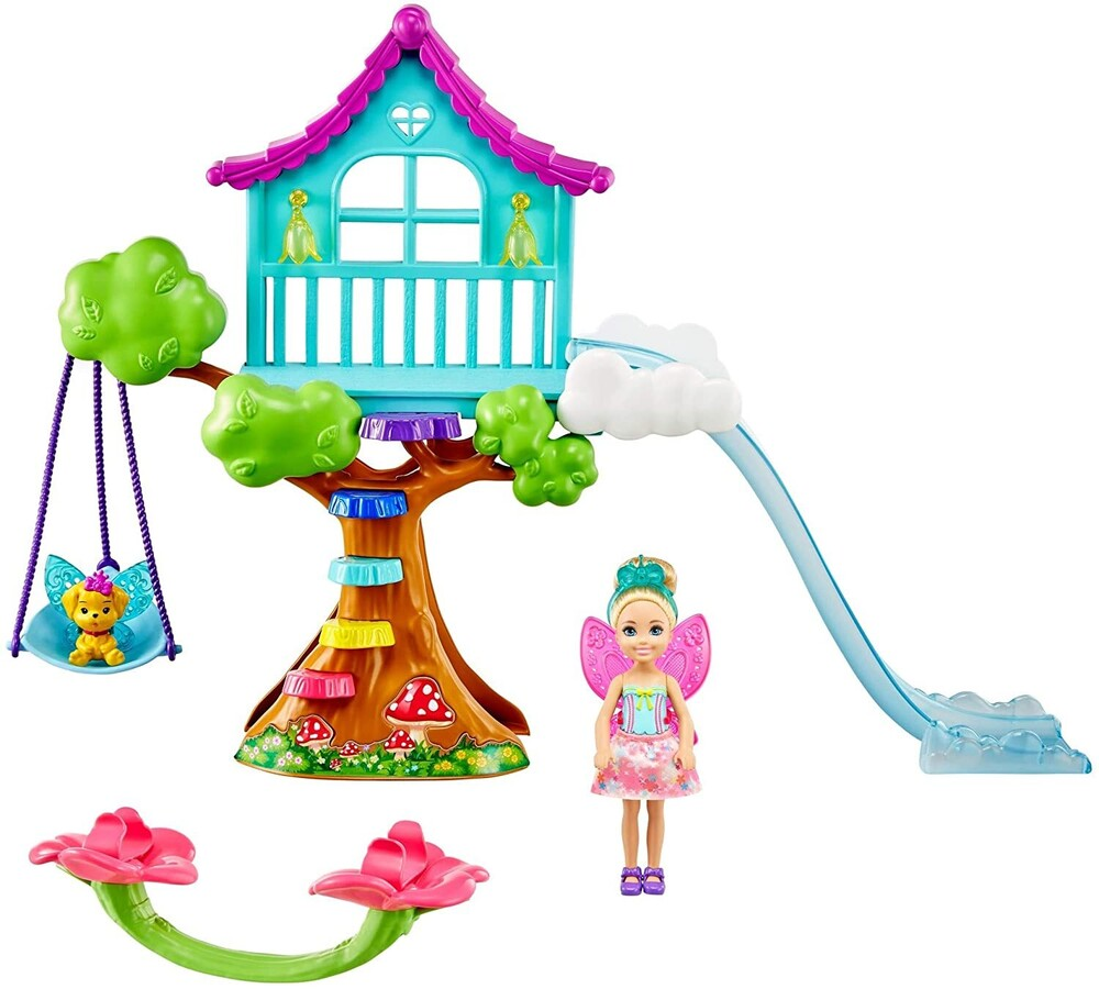 - Mattel - Barbie Dreamtopia Chelsea Fairy Doll and Fairytale Treehouse Playset