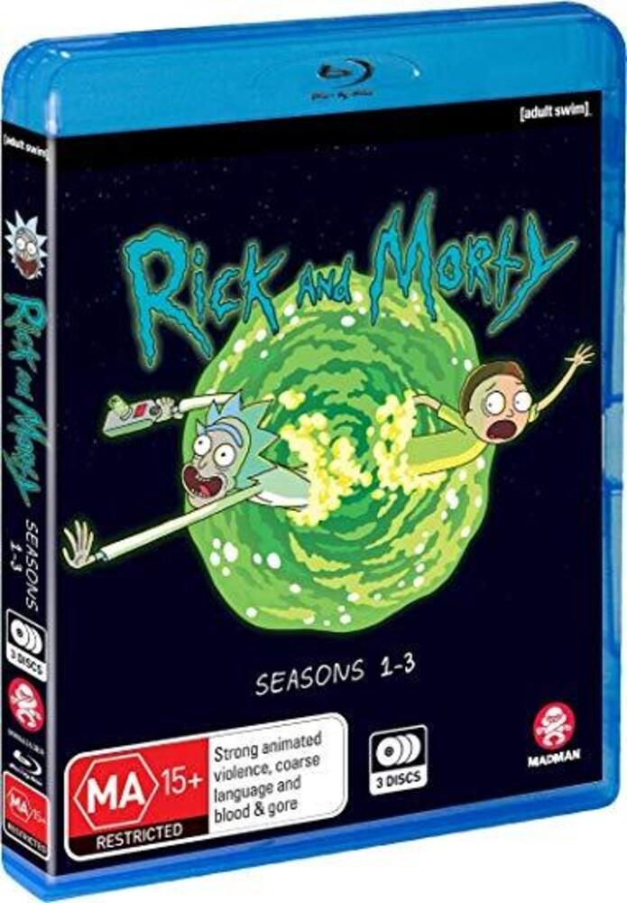 - Rick & Morty: Seasons 1-3 (3pc) / (Ltd Aus)