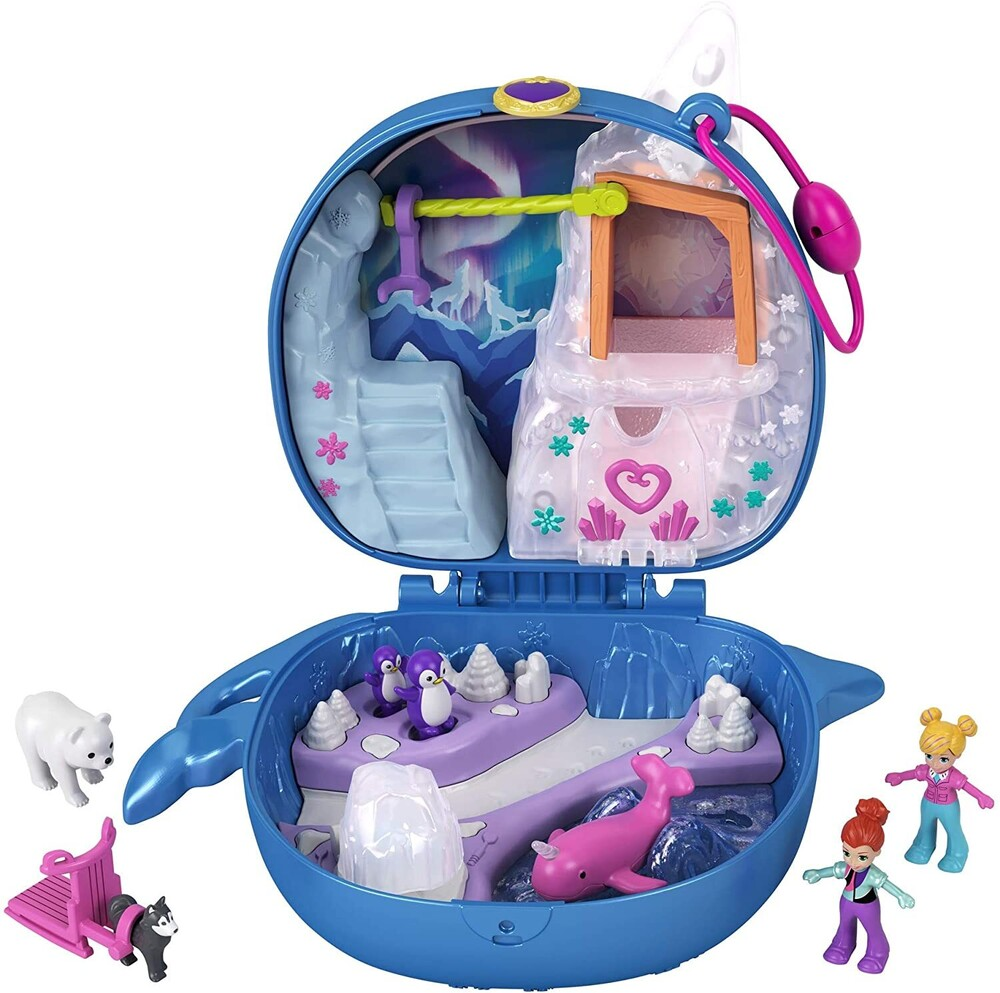Polly Pocket - Mattel - Polly Pocket Freezin' Fun Narwhal Compact