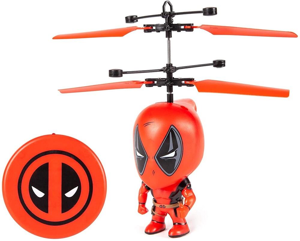 Flying Figure - Marvel 3.5 Inch: Deadpool Flying Figure IR Helicopter (Marvel, Avengers, Deadpool)