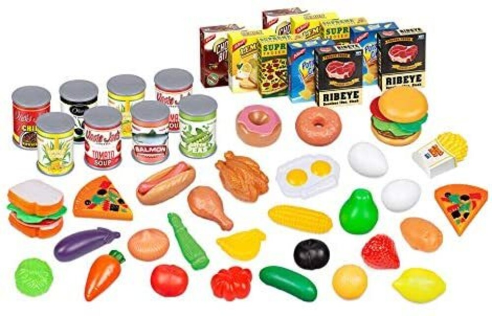 Playsets - 58-Piece Kids Assorted Food Playset