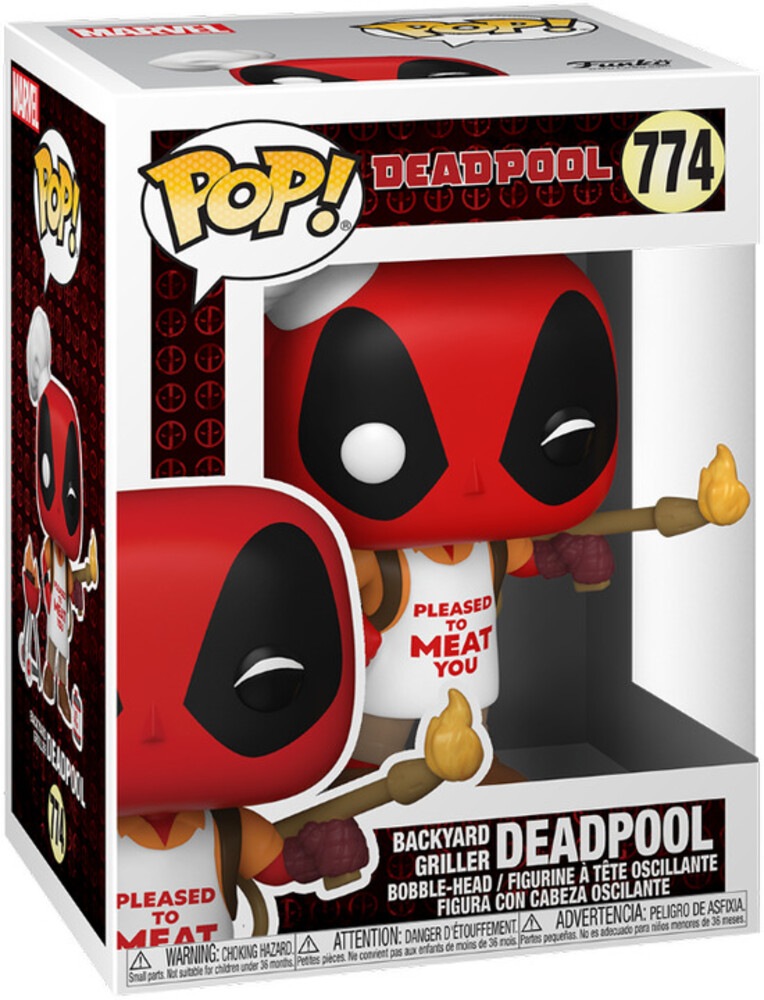 - FUNKO POP! MARVEL: Deadpool 30th- Backyard Griller Deadpool