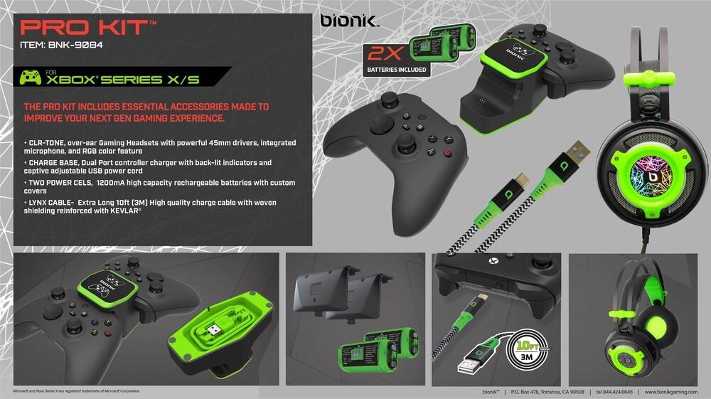 Bionik Pro Kit for Xbx Black - Bionik Pro Kit for Xbox X/S - Black