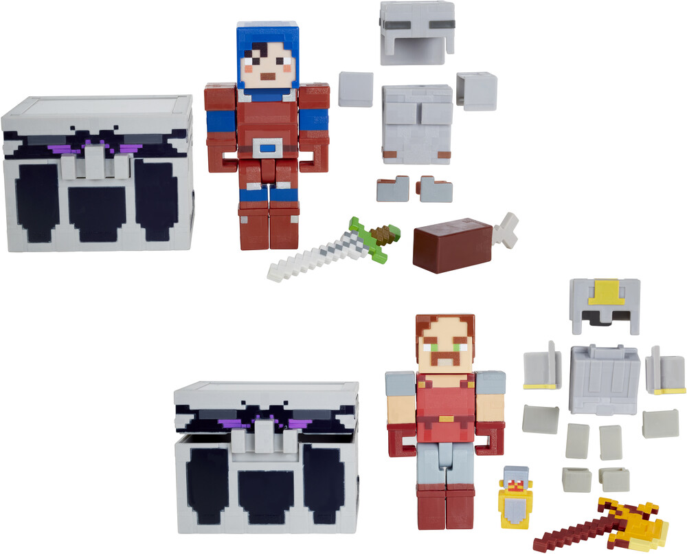 "Minecraft - Mattel Collectible - Minecraft 3.25"" Scale Dungeons Figure and Chest Assortment"