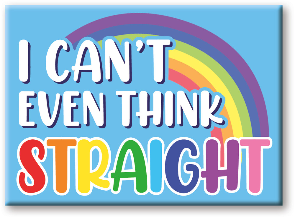 Pride Can't Think 2.5 X 3.5 Flat Magnet - Pride Can't Think 2.5 x 3.5 Flat Magnet