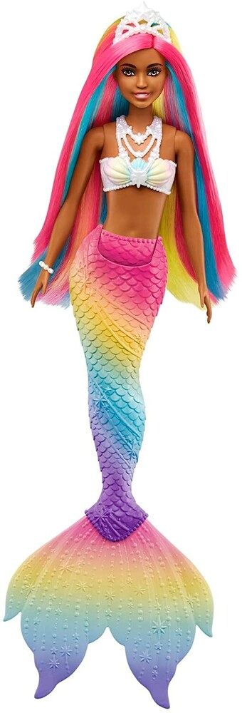 - Mattel - Barbie Dreamtopia Rainbow Magic Mermaid Doll, Color Change