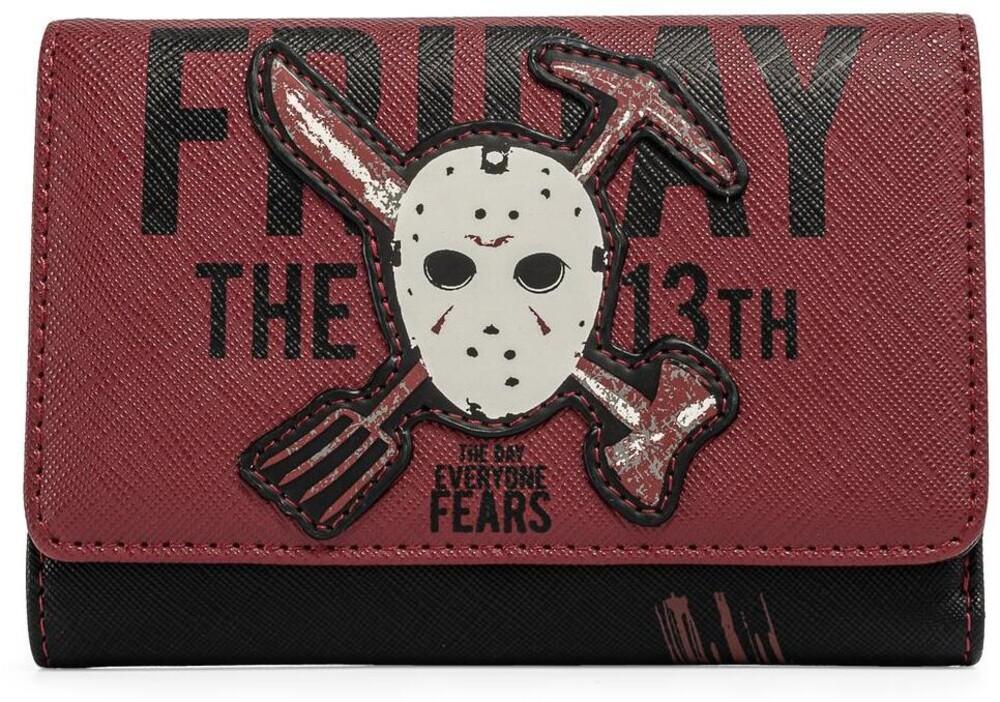 Loungefly Friday the 13th: - Jason Mask Tri-Fold Wallet (Wal)