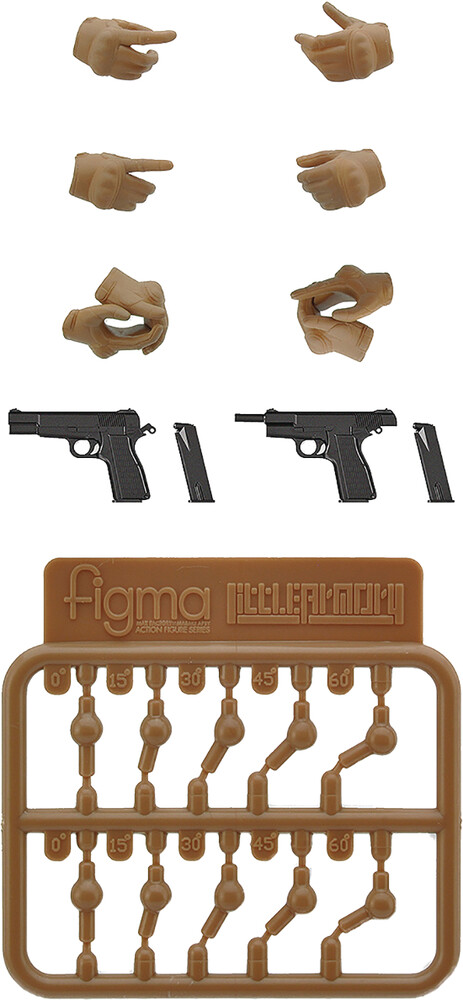 - Little Armory Laop07 Figma Tactical Gloves 2 Tan S
