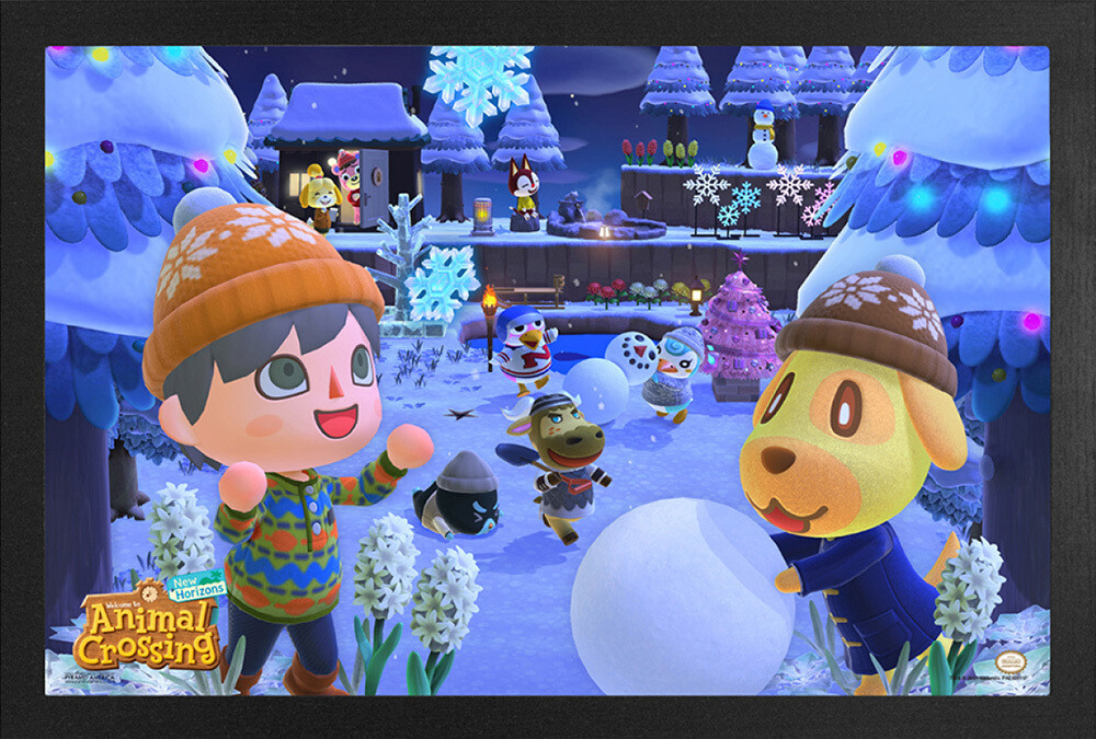 Animal Crossing - Animal Crossing Nh Winter Framed Print (Deco)