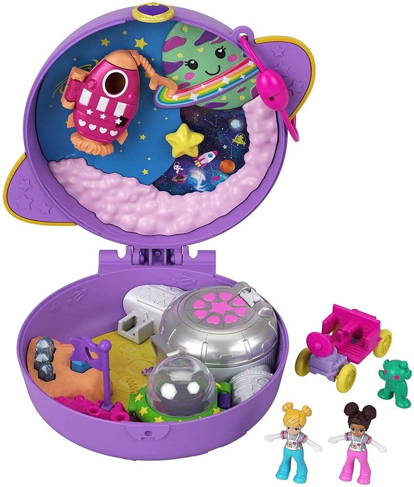 Polly Pocket - Mattel - Polly Pocket Saturn Space Explorer Compact