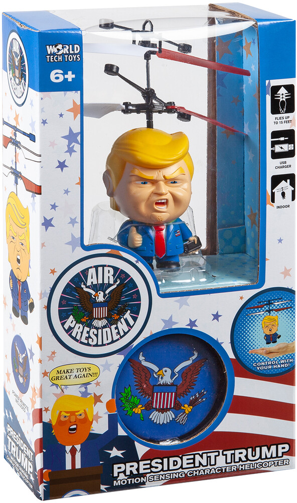 Rc Figures - Donald Trump Motion Sensing 3.5 Inch UFO Helicopter with Remote (Donald Trump)