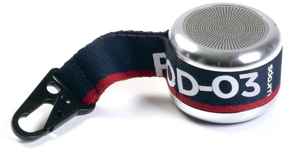 - Wraps WPOD3-V20 Clip & Go POD 3 Bluetooth Wireless Speaker with Clip(Silver)