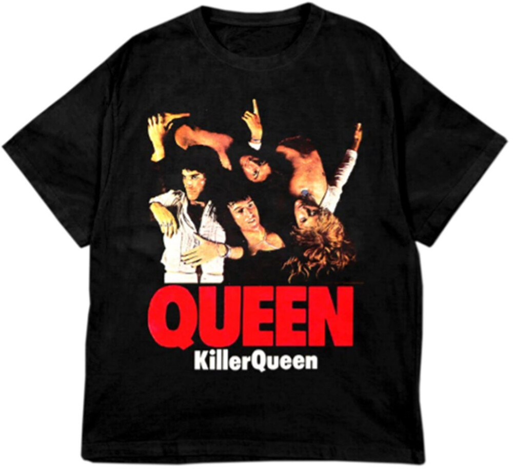 Queen Killer Queen Sheer Heart Attack Ss Tee M - Queen Killer Queen Sheer Heart Attack Album Cover Artwork Black UnisexShort Sleeve T-shirt Medium