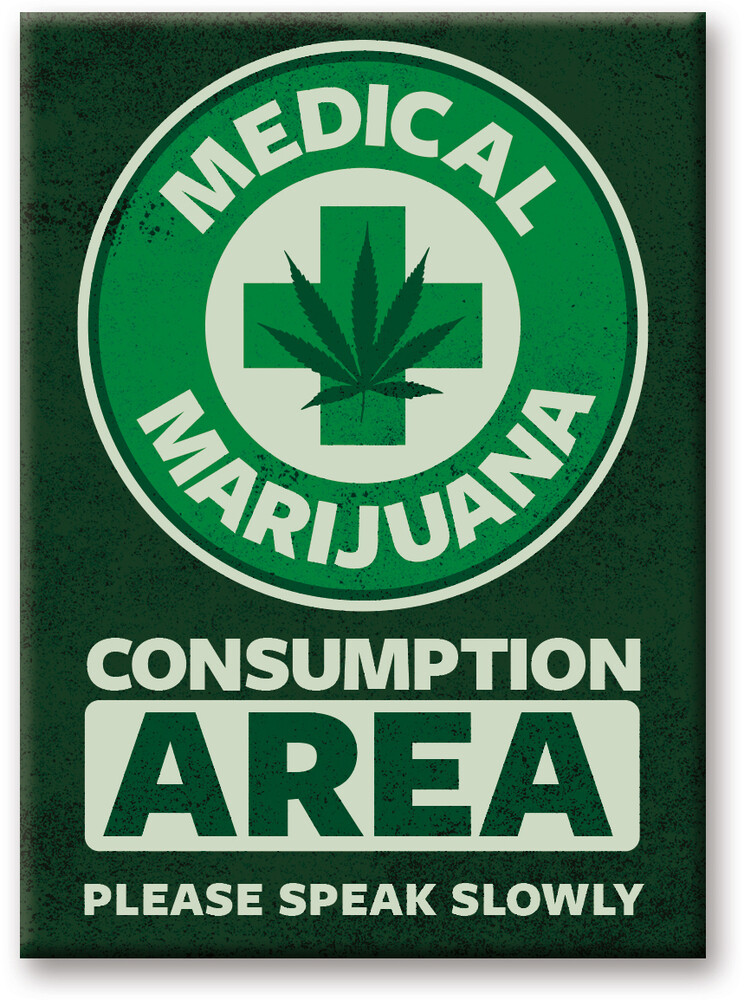 Weed Medical 2.5 X 3.5 Flat Magnet - Weed Medical 2.5 X 3.5 Flat Magnet