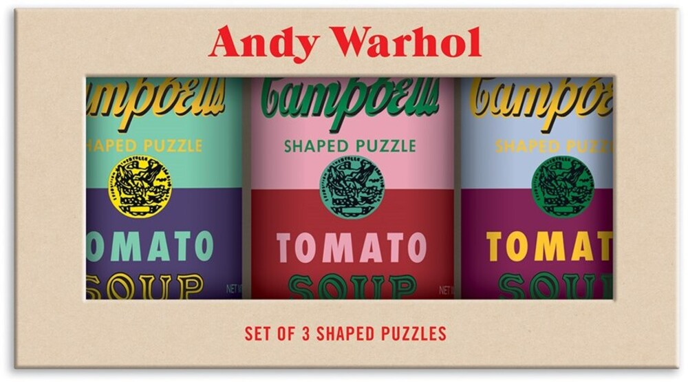 - Andy Warhol Soup Cans Set of 3 Shaped 100 Piece Puzzles in Tins