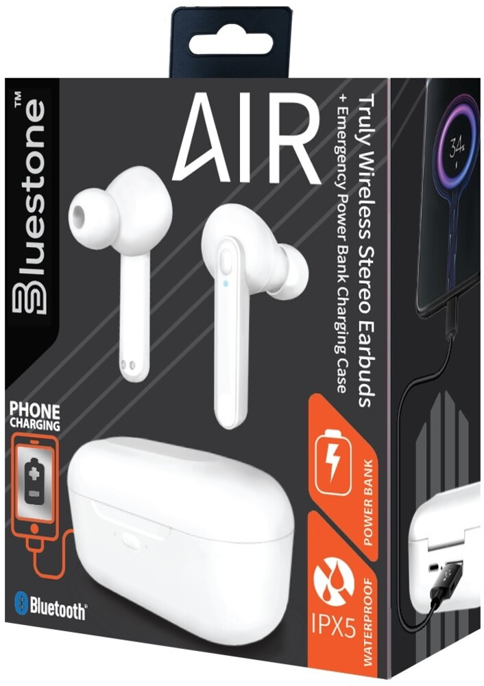 Bluestone Tws13Wh Air Tw Earbuds with Power Cs Wht - Bluestone Tws13wh Air Tw Earbuds With Power Cs Wht