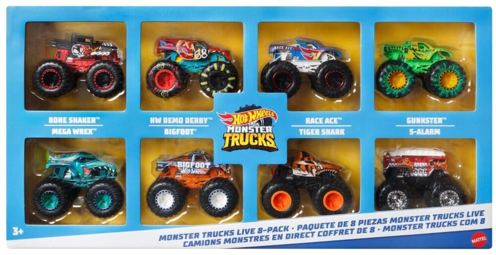 Hot Wheels Monster Truck - Hw Monster Truck Hero Trucks 8 Pack (Tcar)