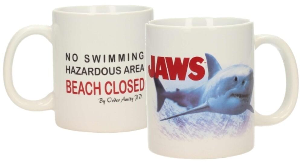 - JAWS BEACH CLOSED 10oz CERAMIC MUG
