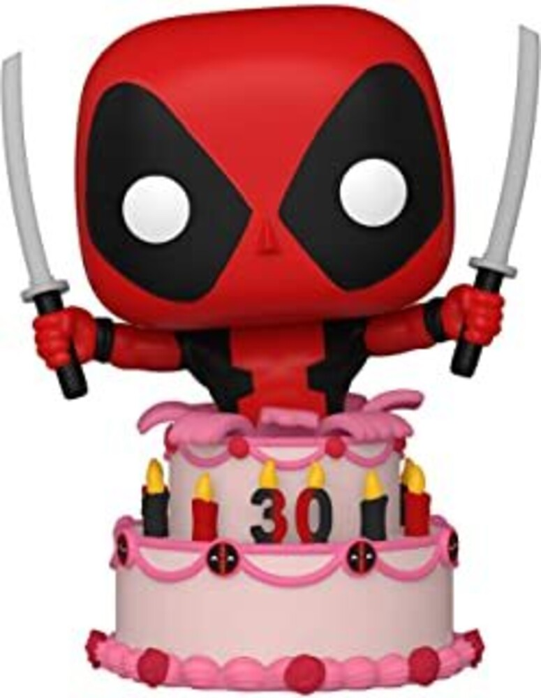 - FUNKO POP! MARVEL: Deadpool 30th- Deadpool in Cake