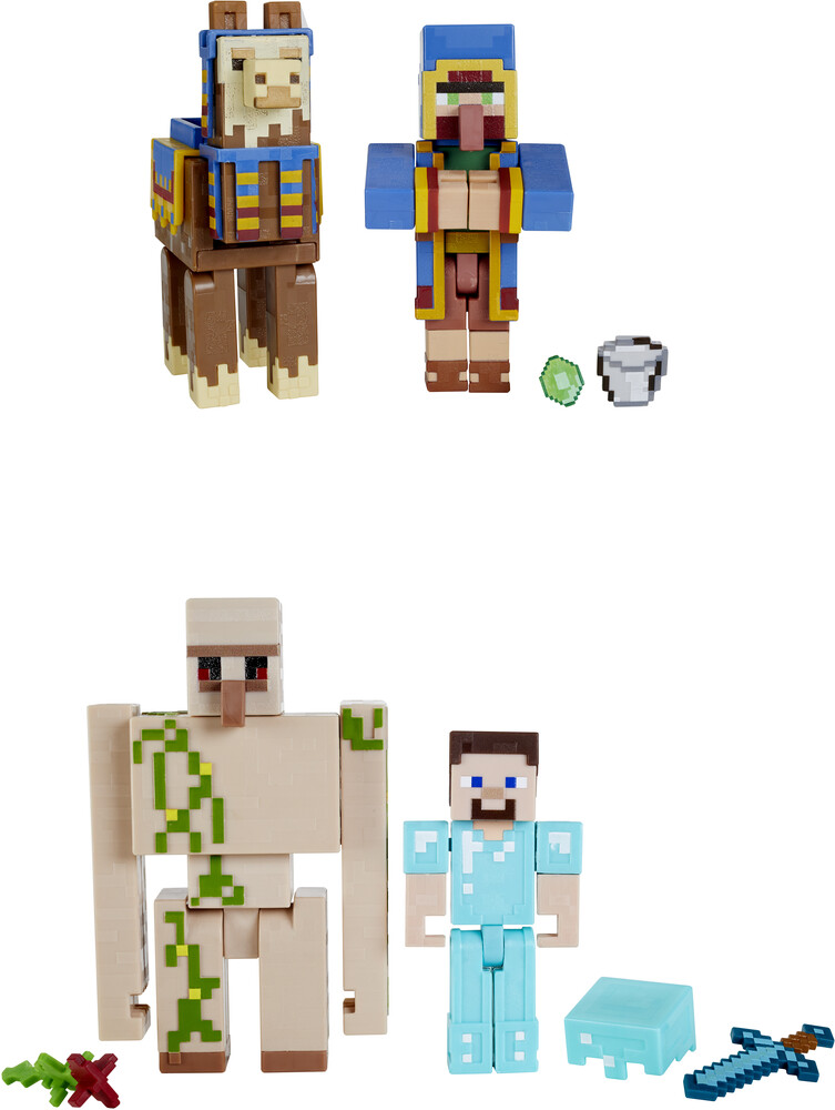 "Minecraft - Mattel Collectible - Minecraft 3.25"" Scale Figure 2-Pack Assortment"