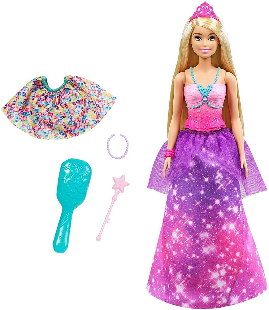 - Mattel - Barbie Dreamtopia 2-in-1 Princess to Mermaid Fashion Doll