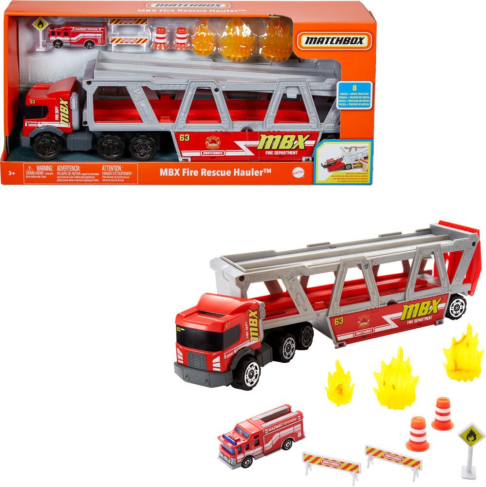 - Mattel - Matchbox Fire Rescure Hauler