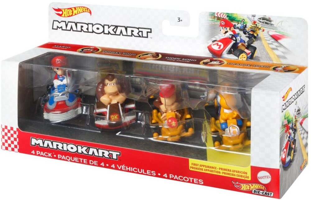 Hot Wheels - Hw Mario Kart 4 Pack 1 (Tcar)
