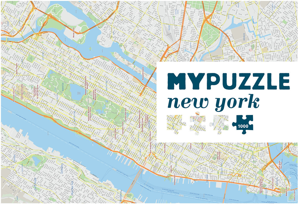 Mypuzzle New York City 1000 PC Jigsaw Puzzle - MYPUZZLE New York City 1000 Pc Jigsaw Puzzle