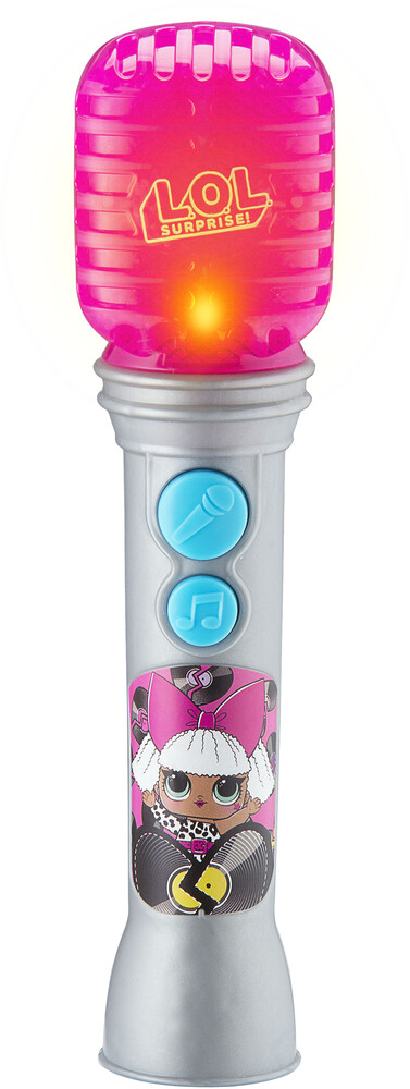 Lol Surprise Ll-070.Emv0I Sing-Along Mic Slvr/Pnk - LOL Surprise LL-070.EMV0I Sing-Along Microphone With Built-In MusicIncludes Flashing Lights (Silver/Pink)