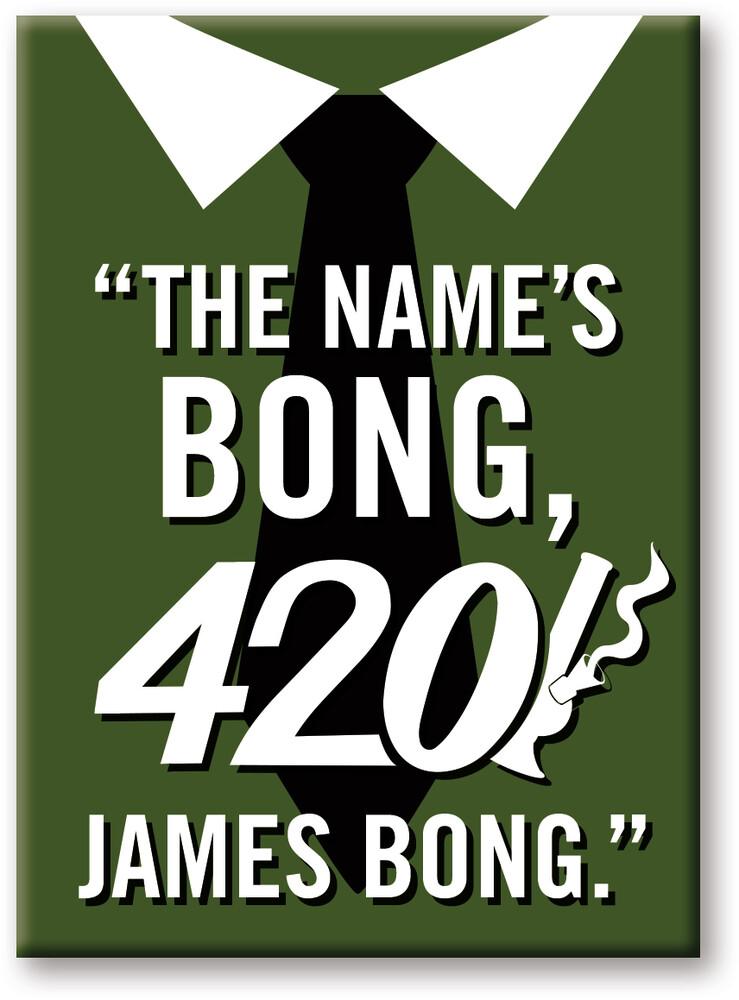Weed James Bong 2.5 X 3.5 Flat Magnet - Weed James Bong 2.5 x 3.5 Flat Magnet