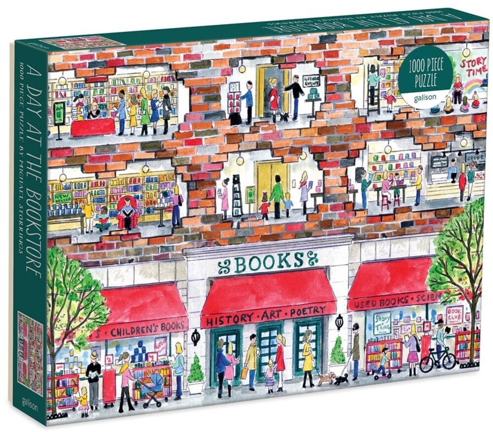 - Michael Storrings A Day at the Bookstore 1000 Piece Puzzle