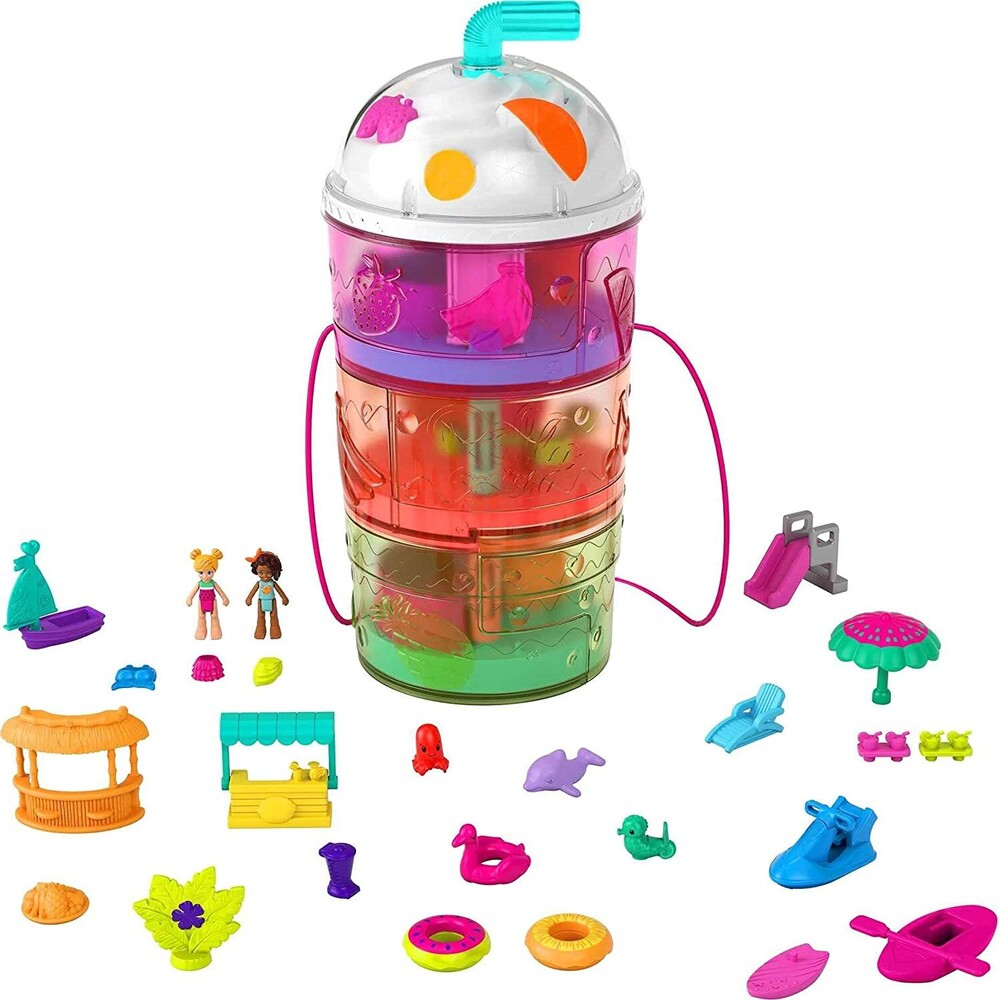 Polly Pocket - Mattel - Polly Pocket Spin and Reveal Smoothie
