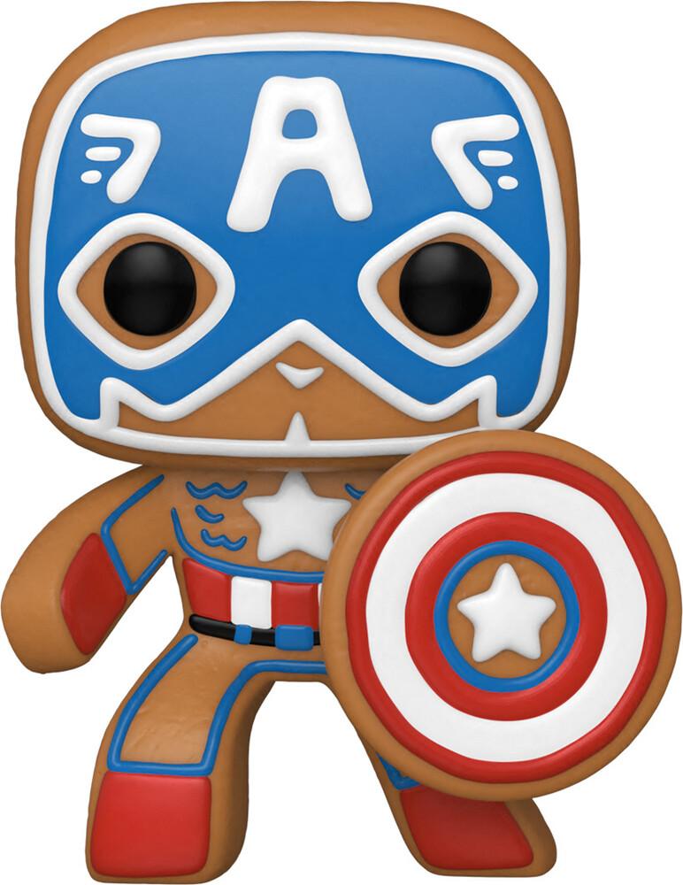 Funko Pop! Marvel: - Holiday- Captain America (Vfig)
