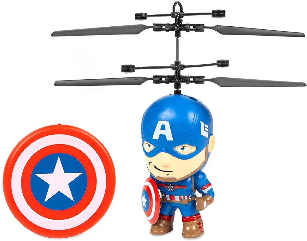 Flying Figure - Marvel 3.5 Inch: Captain America Flying Figure IR Helicopter (Marvel, Avengers, Captain America)
