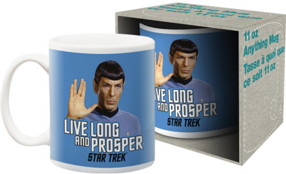 Star Trek Mr. Spock Live Long & Prosper 11Oz Mug - Star Trek Mr. Spock Live Long And Prosper 11oz Mug Boxed