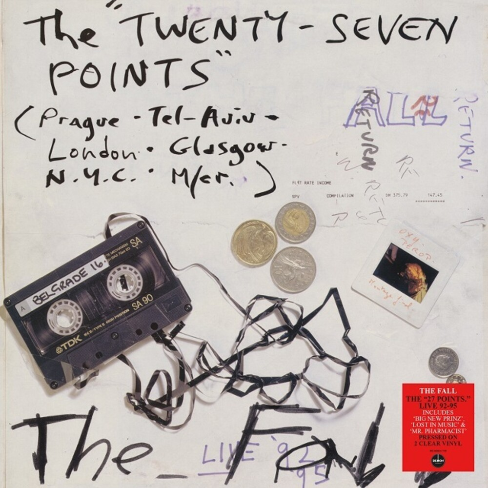 The Fall - Twenty-Seven Points: Live 92-95 [Clear Vinyl] (Ofgv) (Uk)