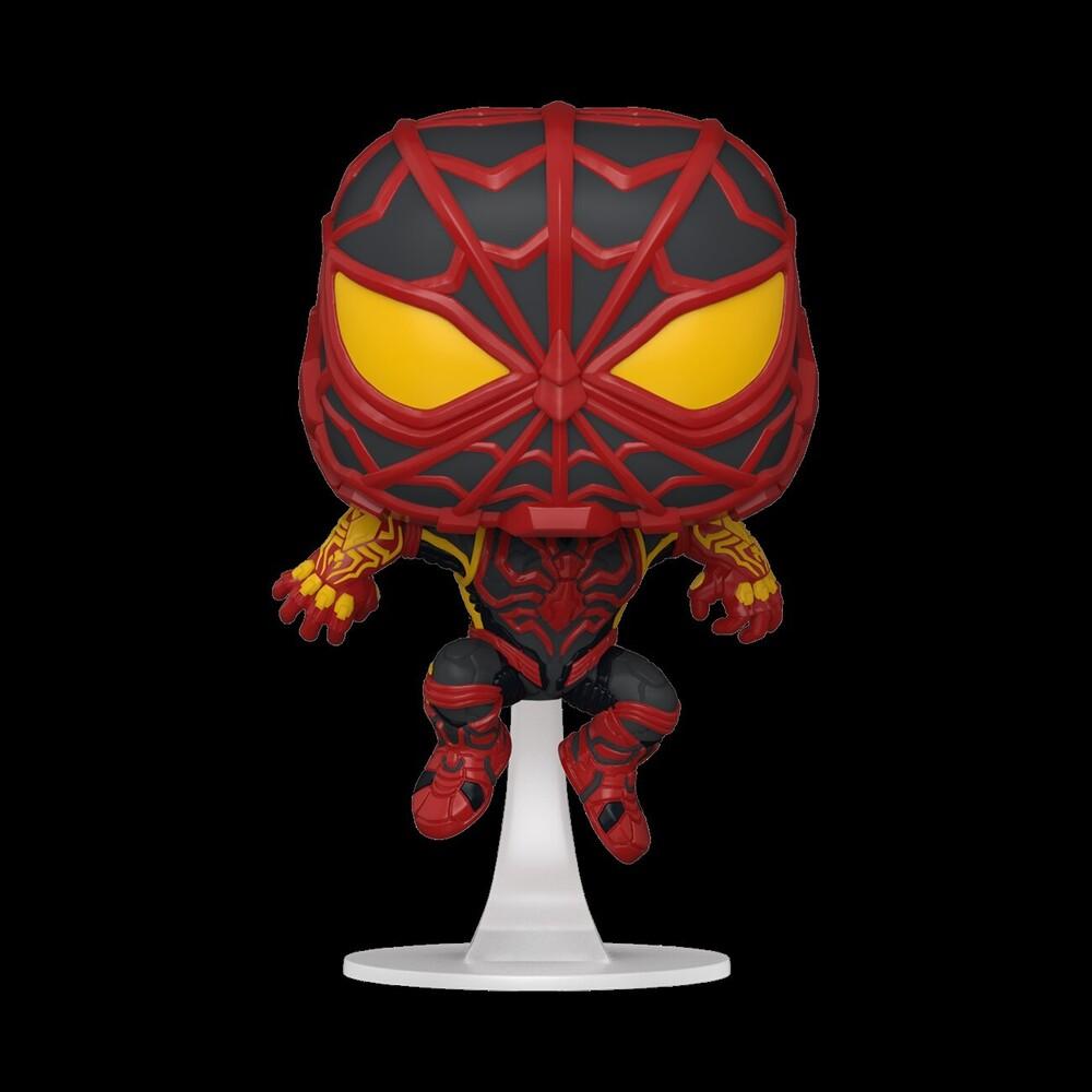 - FUNKO POP! Games: Marvel's Spider-Man Miles Morales Miles (S.T.R.I.K.E. Suit)