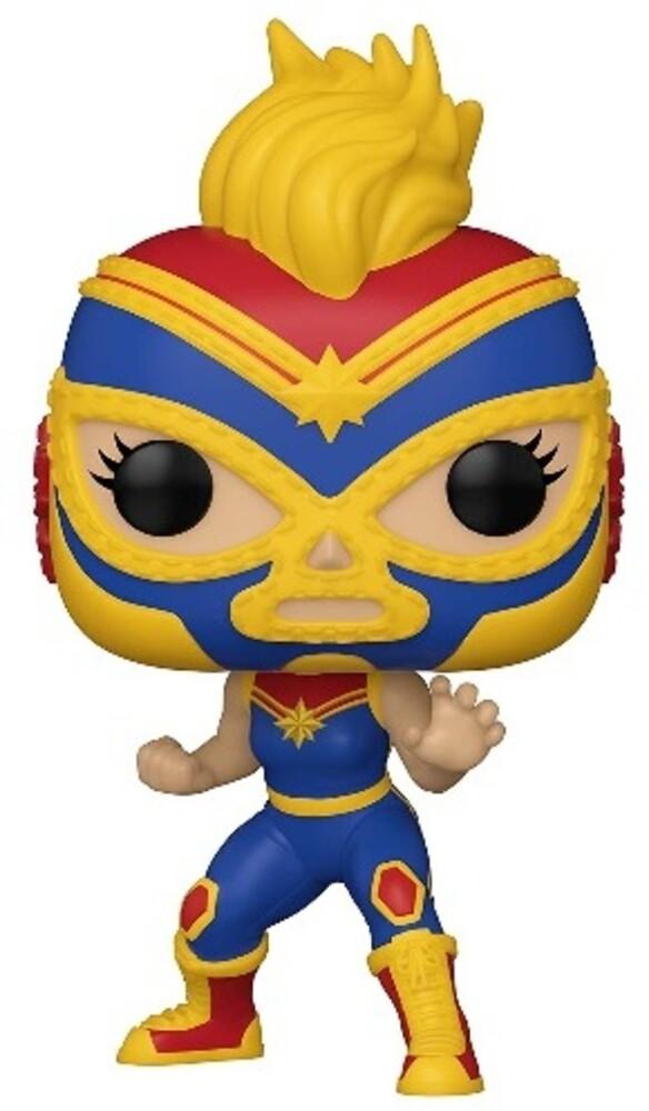 Funko Pop! Marvel: - FUNKO POP! MARVEL: Luchadores- Captain Marvel